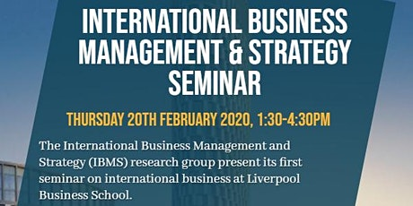 International Business Management and Strategy Seminar tickets
