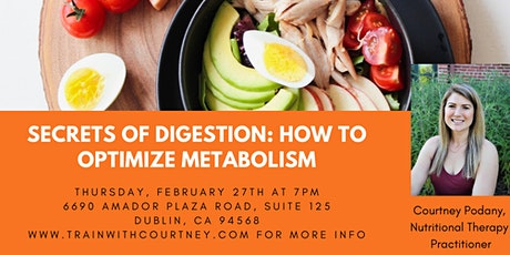 Secrets of Digestion: How to Optimize Metabolism tickets