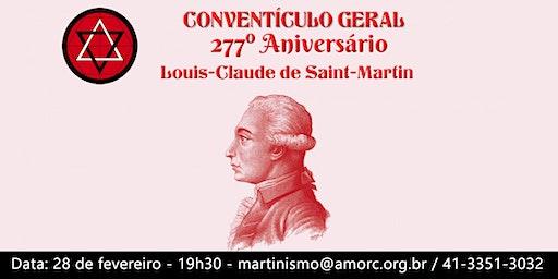 Conventículo Geral - 277º Aniversário  Louis-Claude de Saint