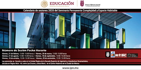 Seminario Permanente Complejidad y Espacio Habitable tickets