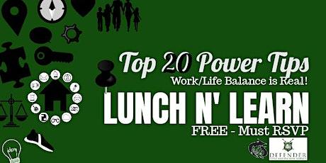 Free Lunch N Learn! tickets
