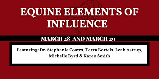 Equine Elements of Influence (Interactive Seminar and Hands-on Clinic)