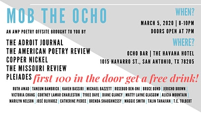 MOB THE OCHO: An AWP '20 Poetry Offsite tickets