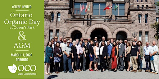 Ontario Organic Day at Queen's Park &  OCO's Annual General Meeting 2020
