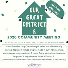 Annual District 8 Community Meeting tickets