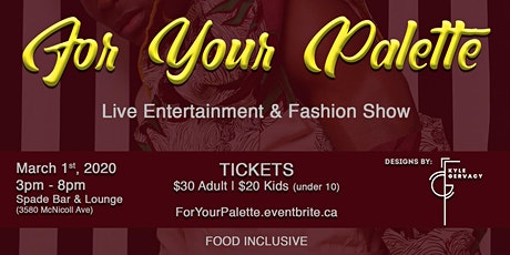 For Your Palette - Dance Caribe Performing Company tickets