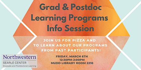 Graduate and Postdoctoral Learning Programs Information Session tickets