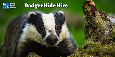 Haweswater Badger Hide: Exclusive Hire