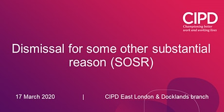 Dismissal for some other substantial reason (SOSR) tickets