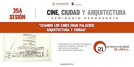 Seminario Cine, ciudad y arquitectura boletos