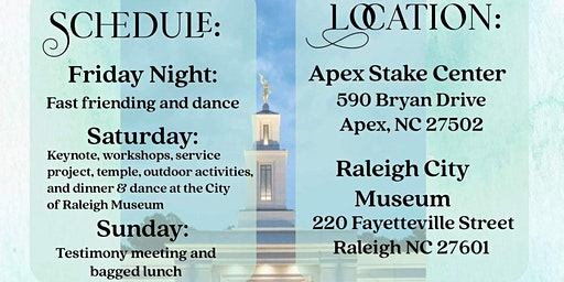 Raleigh Multi-Stake Single Adult Conference 2020
