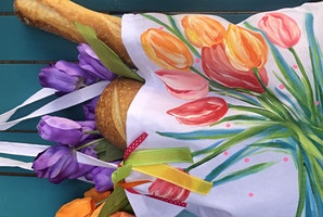 Paint and Sip with Darla-Tulip Tote