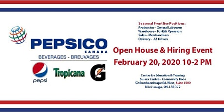 Pepsico Information Session and Job Fair tickets