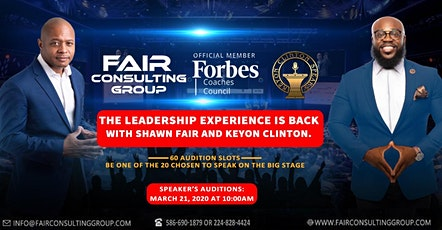 LEADERSHIP SPEAKING TOUR AUDITIONS 20-20 tickets