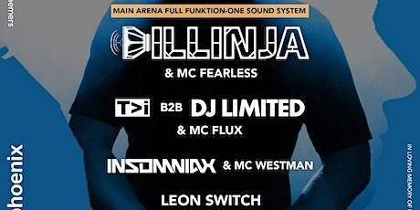 Mindful of Bass:Dillinja/T>I/DJ Limited/Insomniax/Leon Switch/Fearless/Flux tickets