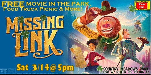 A West Peoria PopUP St Patty's FREE Movie in the Park, Food Trucks & MORE! Sat 3/14