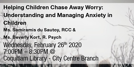 Psychology Month: Helping Children Chase Away Worry tickets