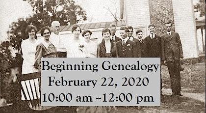 Beginning Genealogy tickets