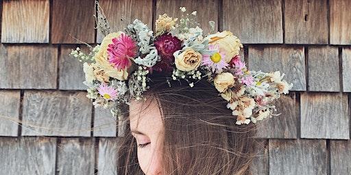 Lady's Hat Farm Flower Crown Workshop