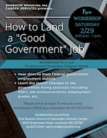 """How to Land a Good Government Job"" FREE WORKSHOP"