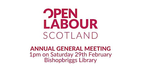 Open Labour Scotland Launch and AGM tickets