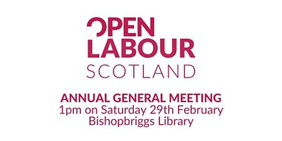 Open Labour Scotland Launch and AGM