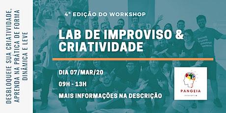 Laboratório de Improviso e Criatividade - 4ª Edição ingressos