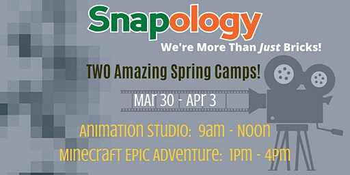 Snapology Spring Camps: Animation Studio and Minecraft Adventure