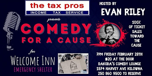 The Tax Pros' present Comedy for a Cause for Welcome Inn Emergency Shelter