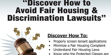 How to Avoid Fair Housing & Discrimination Lawsuits (OAK) tickets