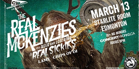 The Real Mckenzies w/ The Real Sickies, L.A.M.S. & Chips Ov Oi