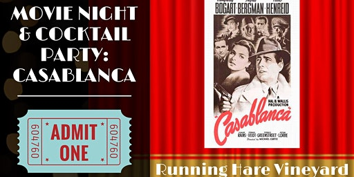 Casablanca: Movie Night and Cocktail Party