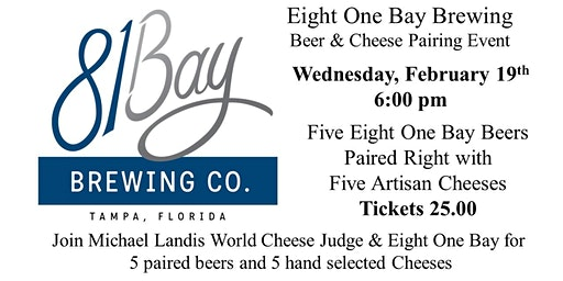 Eight One Bay Brewing Beer & Cheese Pairing Event
