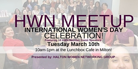 HALTON WOMEN NETWORKING MARCH 2020 MEETUP - INTERNATIONAL WOMEN'S DAY tickets