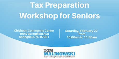 Tax Preparation Workshop for Seniors tickets