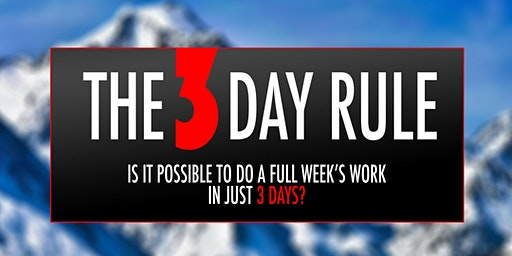 The 3 day Rule Training Class -Reed Moore