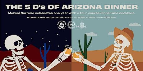 5 C's Of Arizona Dinner- Carreño, Cocktails, Compas at Cotton & Copper tickets