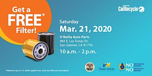 San Gabriel FREE Oil Filter Exchange Event