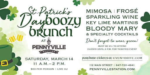 St. Patrick's Day Boozy Brunch at Pennyville Station!