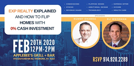eXp Realty Explained and  How to Flip Homes w/ 0% CASH INVESTMENT in  Bronx tickets