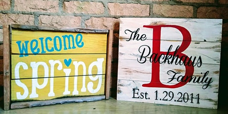 Paint Night with a Rustic Twist tickets
