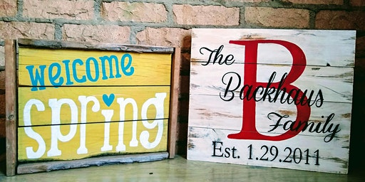 Paint Night with a Rustic Twist