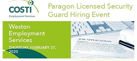 Paragon Licensed Security Guard Hiring Event tickets