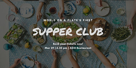 World on a Plate's first supper club tickets
