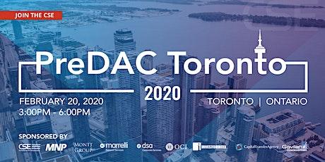PreDAC Toronto 2020 tickets