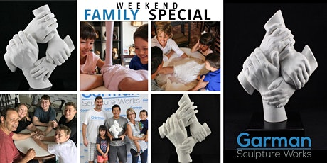 Amazing Family Hand Sculpture Session! Weekend Special only $59 per person. tickets