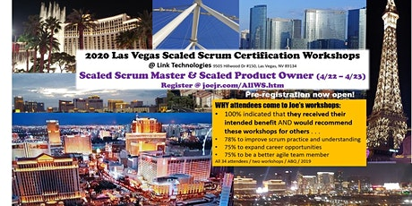 Scaled Scrum Master / Scaled Product Owner Certification Workshops @ Link tickets