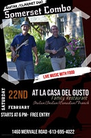 Live Music with Food -@ La Casa Del Gusto Feb Saturday 22nd 6-PM