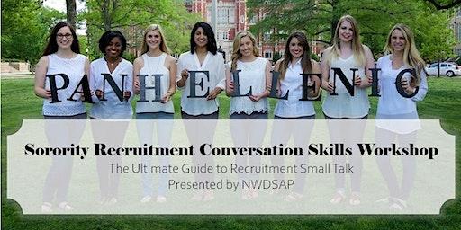 NWDSAP Recruitment Conversation Skills Workshop