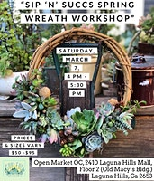 Spring Succulent Wreath Workshop